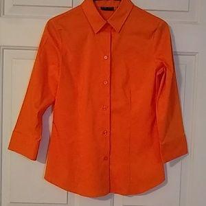 Orange New York & Company stretch dress shirt